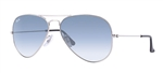 RB3025-003/3F Aviator Large Metal - Silver w/Crystal Gradient Light Blue lens