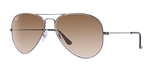 RB3025-004/51 Aviator Large Metal - Gunmetal w/Crystal Brown Gradient lens