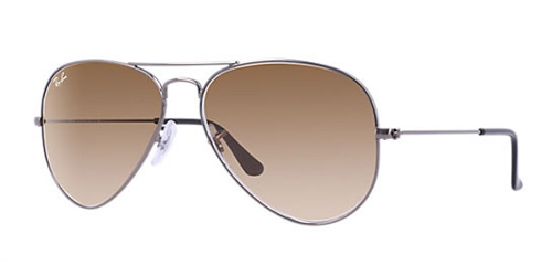 30221b9249e9ae Sunglasses - Ray-Ban RB3025-004 51 - Aviator Large Metal - Gunmetal  w Crystal Brown Gradient lens