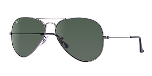 464df1f54a Sunglasses - Ray-Ban RB3025-004 58 - Aviator Large Metal - Gunmetal  w Crystal Green Polarized lens