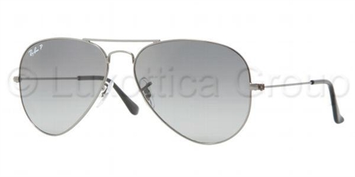59d4f0cfbb566 Sunglasses - Ray-Ban RB3025-004 78 - Aviator Large Metal - Gunmetal ...