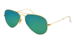 RB3025-112/19 Aviator Large Metal - Matte Gold w/Cry.green Mirror Multil.green lens