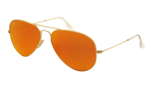 a303d14f7fab Sunglasses - Ray-Ban RB3025-112 69 - Aviator Large Metal - Matte Gold w Crystal  Brown Mirror Orange lens