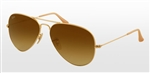 RB3025-112/85 Aviator Large Metal - Matte Gold w/Brown Gradient lens