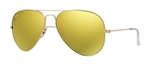 RB3025-112/93 Aviator Large Metal - Matte Gold w/Brown Mirror Gold lens