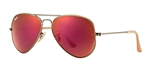 RB3025-167/2K Aviator Large Metal - Demiglos Brushed Bronze w/Red Mirror lens