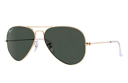 567aec0f76 Sunglasses - Ray-Ban RB3025-181 - Aviator Large Metal - Gold w Dark Green  lens
