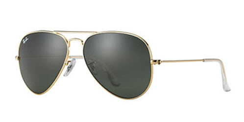 RB3025-L0205 Aviator Large Metal - Gold w/Grey Green lens