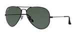 RB3025-L2823 Aviator Large Metal - Black w/Grey Green lens