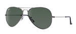 RB3025-W0879 Aviator Large Metal - Gunmetal w/Grey Green lens
