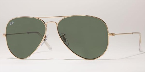 a0f6244152 Sunglasses - Ray-Ban RB3025-W3234 - Aviator Large Metal - Gold w Grey Green  lens