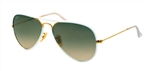 RB3025JM-146/32 Aviator Full Color - Shiny Gold w/Grey Gradient lens