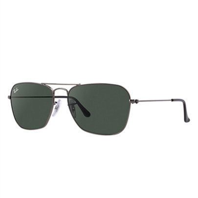 fc4db47bc7 Sunglasses - Ray-Ban RB3136-004 - Caravan - Gunmetal w Crystal Green lens