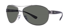 RB3386-004/9A Rb3386 - Gunmetal w/Polar Green lens