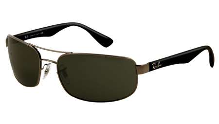 c318327f97 Sunglasses - Ray-Ban RB3445-004 - Rb3445 - Gunmetal w Crystal Green lens