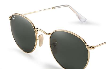 71d8915a02 Sunglasses - Ray-Ban RB3447-001 - Round Metal - Arista w Crystal Green lens