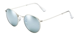 RB3447-019/30 Round Metal - Matte Silver w/Light Green Mirror Silver lens