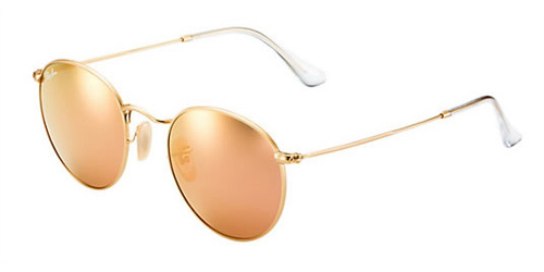 6c2418231c2419 Sunglasses - Ray-Ban RB3447-112 Z2 - Round Metal - Matte Gold w Brown  Mirror Pink lens