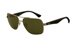 RB3483-004/58 Rb3483 - Gunmetal w/Green Polarized lens