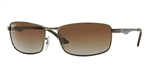 RB3498-029/T5  - Matte Gunmetal w/Grey Gradient Brown Polar lens
