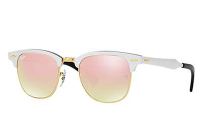b29b11aecf Sunglasses - Ray-Ban RB3507-137 7O - Clubmaster Aluminum - Brusched Silver w Copper  Flash Gradient lens