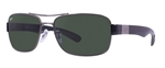 RB3522-004/71  - Gunmetal w/Green lens