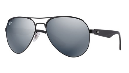 55e54562951 Sunglasses - Ray-Ban RB3523-006 6G - - Matte Black w Gray Silver Mirror lens