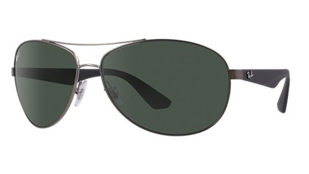 4ed84631f4c Sunglasses - Ray-Ban RB3526-029 9A - - Matte Gunmetal w Polar Dark Green  lens