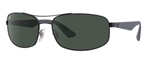 RB3527-006/71  - Matte Black w/Grey Green lens