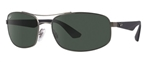 RB3527-029/9A  - Matte Gunmetal w/Polar Dark Green lens