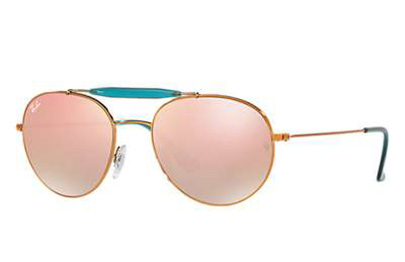 91a46a0abc Sunglasses - Ray-Ban RB3540-198 7Y - - Shiny Bronze w Copper Flash Gradient  lens