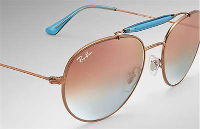 733c3a33242fc Sunglasses - Ray-Ban RB3540-198 7Y - - Shiny Bronze w Copper Flash ...