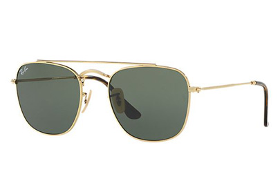 RB3557-001  - Gold w/Green lens