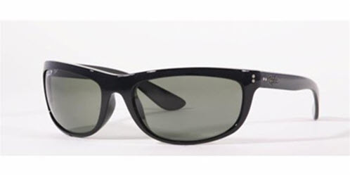 RB4089-601/58 Balorama - Black w/Crystal Green Polarized lens
