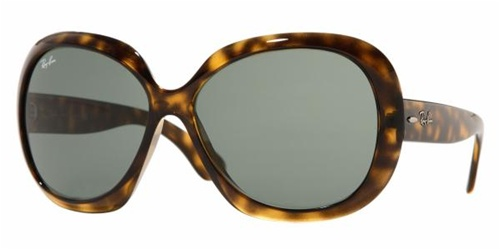 138da86d78f Sunglasses - Ray-Ban RB4098-710 71 - Jackie Ohh Ii - Light Havana w Green  lens