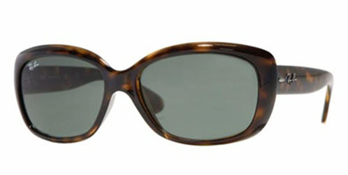 RB4101-710 Jackie Ohh - Light Havana w/Crystal Green lens