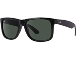 RB4165-601/71 Justin - Black w/Green lens