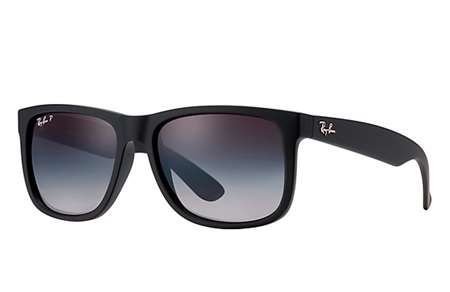 Sunglasses - Ray-Ban RB4165-622 T3 - Justin - Black Rubber w Polar Grey  Gradient lens e31098d213