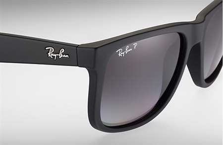 0a77651bc6d Sunglasses - Ray-Ban RB4165-622 T3 - Justin - Black Rubber w Polar ...