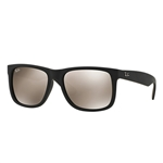 RB4165F-622/5A Justin - Rubber Black w/Light Brown Mirror Gold lens