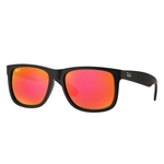 RB4165F-622/6Q Justin - Rubber Black w/Brown Mirror Orange lens