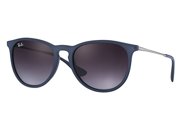 4eba482a3b Sunglasses - Ray-Ban RB4171-60028G - Erika - Rubber Blue w Grey Gradient  lens