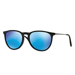 RB4171F-601/55 Erika (f) - Shiny Black w/Light Green Mirror Blue lens