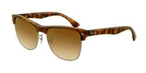RB4175-878/51 Clubmaster Oversized - Demi Shiny Havana/gunmetal w/Crystal Brown Gradient lens