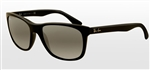 RB4181-601/71 Rb4181 - Shiny Black w/Crystal Grey Gradient Azure lens