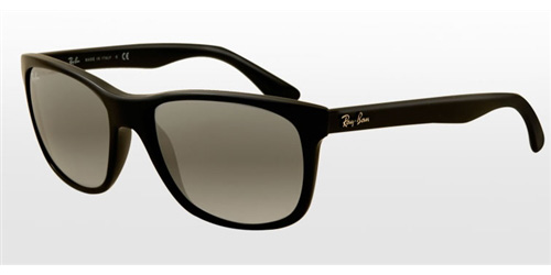 49ce42101d Sunglasses - Ray-Ban RB4181-601 71 - Rb4181 - Shiny Black w Crystal Grey  Gradient Azure lens