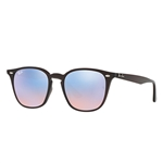 RB4258F-62311N  - Shiny Opal Brown w/Blue Flash Blue lens