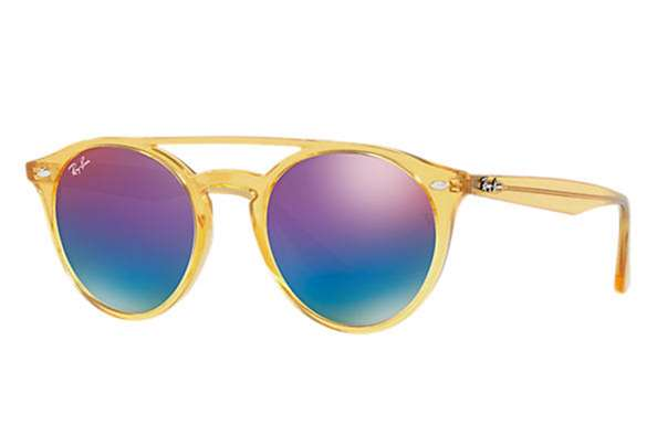 251a789beb Sunglasses - Ray-Ban RB4279-6277B1 - - Yellow w Green Mirror Blue Grad  Violet lens