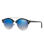 RB4346-62507Q  - Shiny Black w/Blue Flash Gradient lens