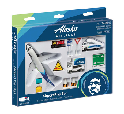 RT3991-1 - Alaska Airlines Airport Play Set New Livery